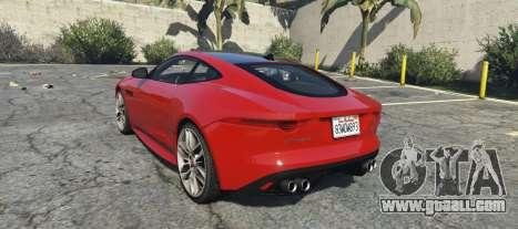 GTA 5 Jaguar F-Type R&SVR left side view