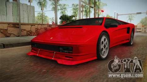 GTA 5 Pegassi Infernus Classic SA Style for GTA San Andreas back left view