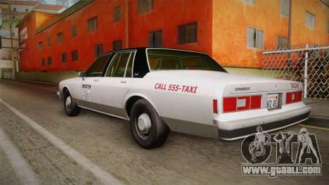 Chevrolet Impala Taxi 1985 IVF for GTA San Andreas left view