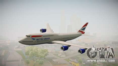 Boeing 747-8i British Airways for GTA San Andreas
