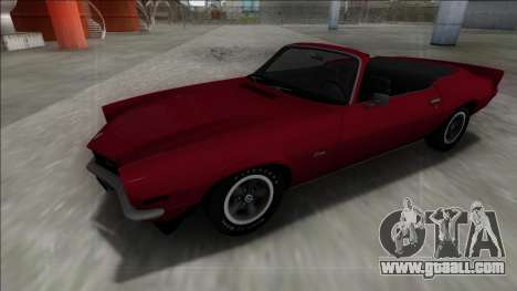 Chevrolet Camaro Z28 Cabrio for GTA San Andreas