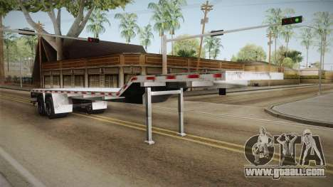 American Flatbed (Multiple) Trailer for GTA San Andreas right view