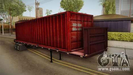 Red Trailer Container HD for GTA San Andreas