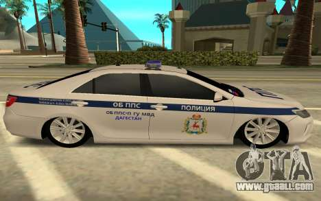Toyota Camry Police for GTA San Andreas left view