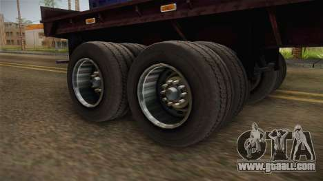 Blue Trailer Container HD for GTA San Andreas back view