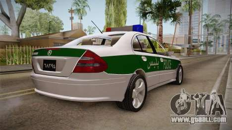 Mercedes-Benz E500 Iranian Police for GTA San Andreas back left view