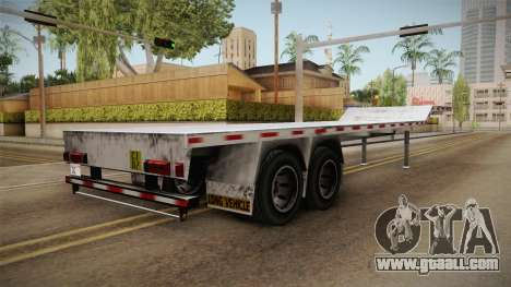 American Flatbed (Multiple) Trailer for GTA San Andreas back left view