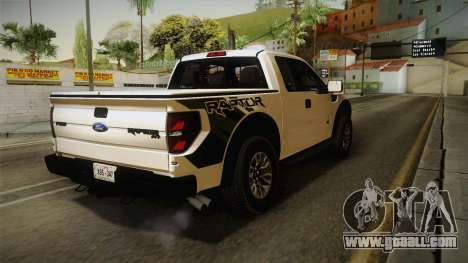 Ford F-150 SVT Raptor 2014 for GTA San Andreas back left view