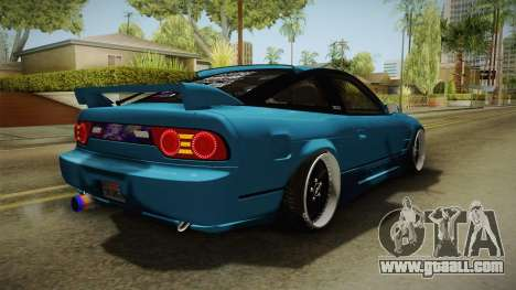 Nissan 180SX RPS13 Type-X for GTA San Andreas back left view