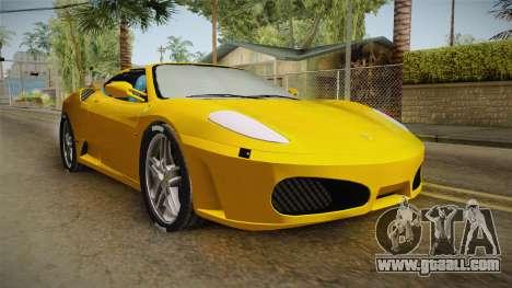 Ferrari F430 Spyder for GTA San Andreas right view