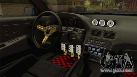 Nissan 180SX RPS13 Type-X for GTA San Andreas inner view