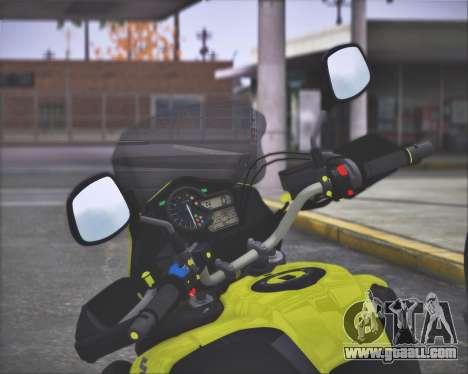 SUZUKI V-STROM 1000 for GTA San Andreas back view