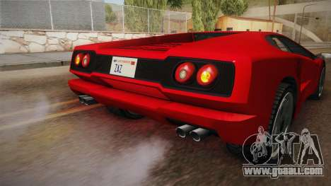 GTA 5 Pegassi Infernus Classic SA Style for GTA San Andreas upper view