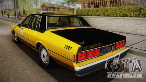 Chevrolet Caprice Taxi 1989 IVF for GTA San Andreas left view