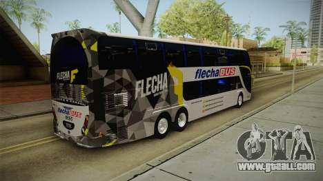 Starbus 2 Flecha Bus Egresados for GTA San Andreas back left view