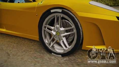 Ferrari F430 Spyder for GTA San Andreas back view