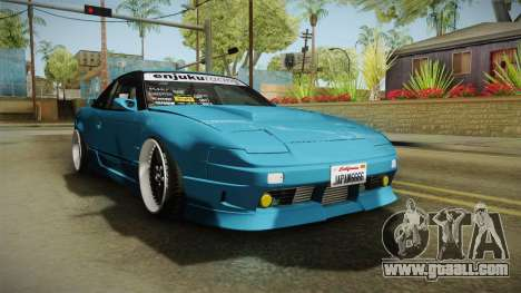 Nissan 180SX RPS13 Type-X for GTA San Andreas right view