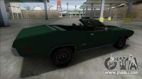 Plymouth GTX Cabrio for GTA San Andreas left view