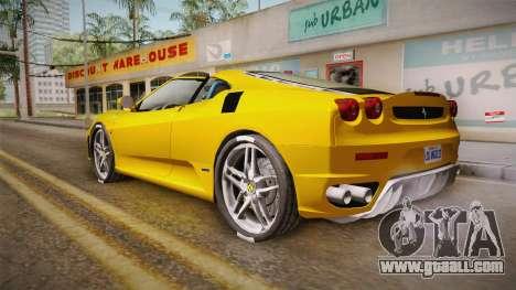Ferrari F430 Spyder for GTA San Andreas left view