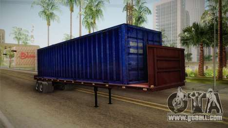 Blue Trailer Container HD for GTA San Andreas right view