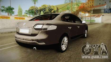 Renault Fluence 2016 for GTA San Andreas back left view