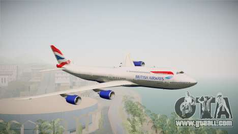 Boeing 747-8i British Airways for GTA San Andreas back left view