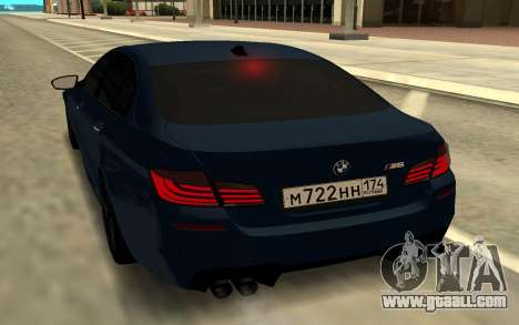 BMW F10 for GTA San Andreas back left view