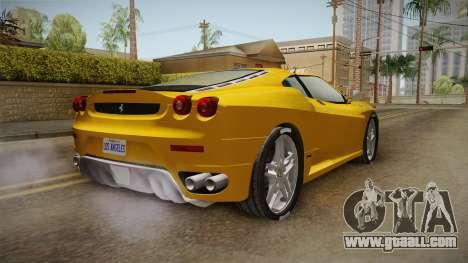 Ferrari F430 Spyder for GTA San Andreas back left view