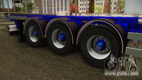 Trailer Container v3 for GTA San Andreas back view