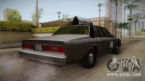 Chevrolet Impala Taxi 1985 for GTA San Andreas right view
