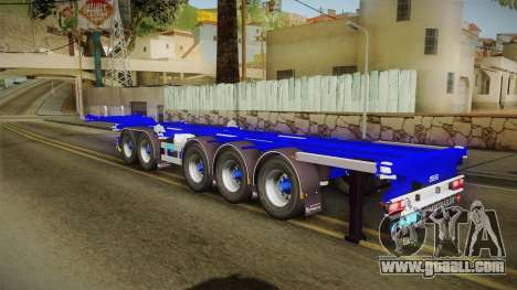 Trailer Container v3 for GTA San Andreas left view