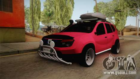 Dacia Duster Offroad for GTA San Andreas back left view