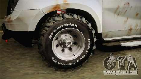 Dacia Duster Mud Edition for GTA San Andreas back view