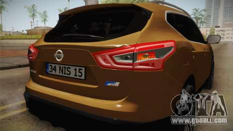 Nissan Qashqai 2016 IVF for GTA San Andreas wheels
