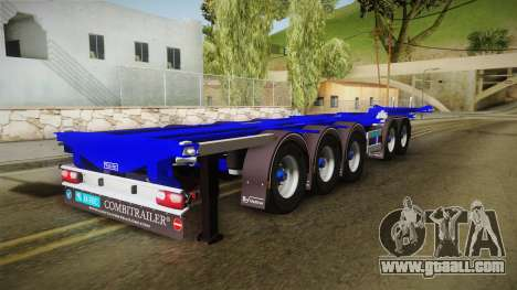 Trailer Container v3 for GTA San Andreas back left view