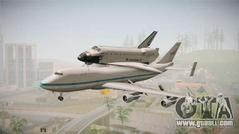Boeing 747-100 Shuttle Carrier Aircraft for GTA San Andreas back left view