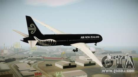 Boeing 787 Air New Zealand Black Edition for GTA San Andreas right view
