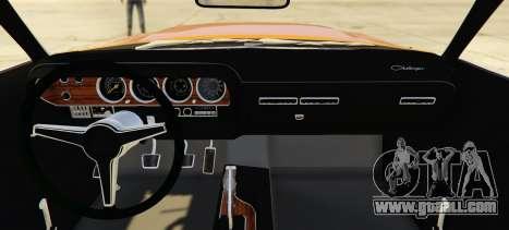 GTA 5 Dodge Challenger 70 rear left side view