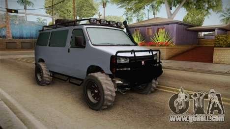 GTA 5 Bravado Rumpo Custom for GTA San Andreas back view