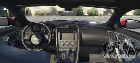 GTA 5 Jaguar F-Type R&SVR rear left side view