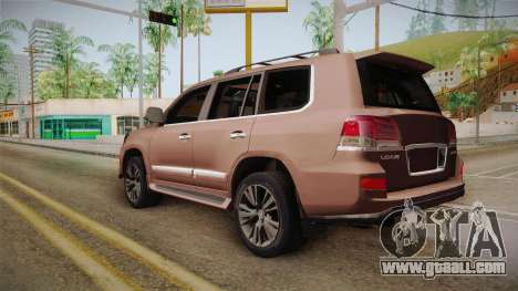 Lexus LX 570 Final Version for GTA San Andreas left view