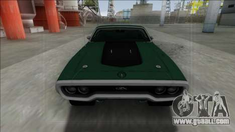 Plymouth GTX Cabrio for GTA San Andreas back left view