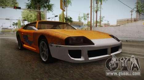 Jester PJ Old Supra F&F for GTA San Andreas right view