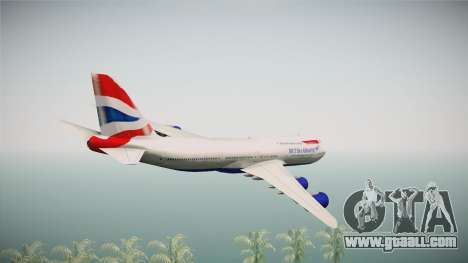 Boeing 747-8i British Airways for GTA San Andreas right view