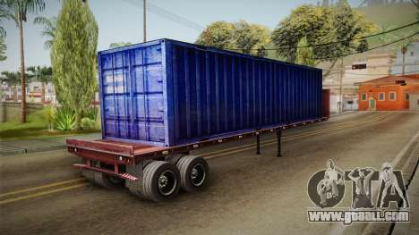 Blue Trailer Container HD for GTA San Andreas back left view