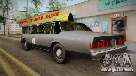 Chevrolet Impala Taxi 1985 for GTA San Andreas left view