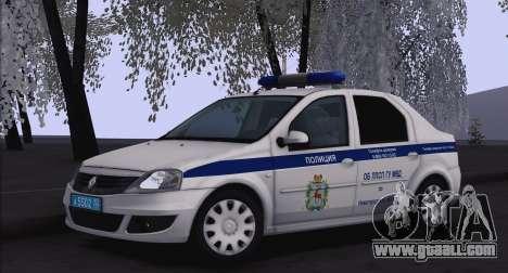 Renault Logan for Moi for GTA San Andreas