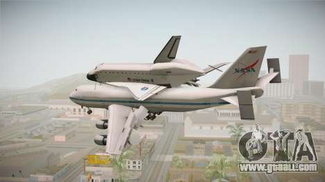 Boeing 747-100 Shuttle Carrier Aircraft for GTA San Andreas left view
