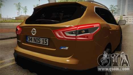 Nissan Qashqai 2016 IVF for GTA San Andreas engine