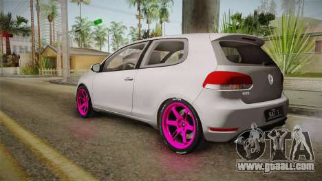 Volkswagen Golf Mk6 GTI for GTA San Andreas left view